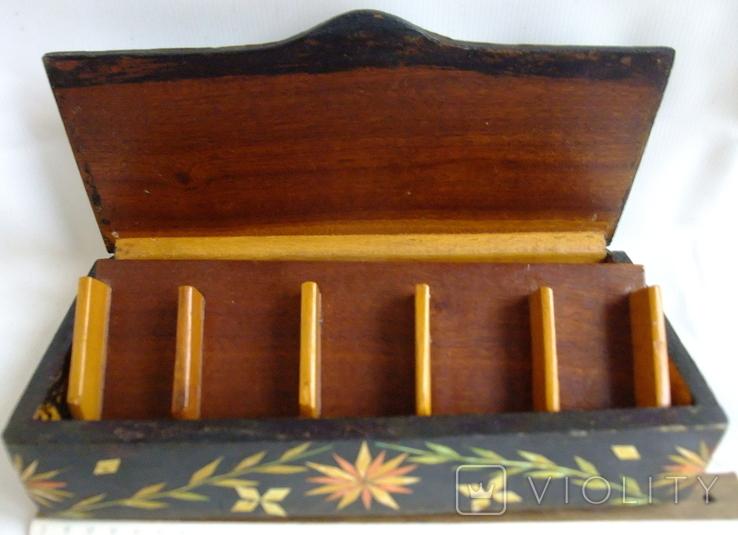 Шкатулка - коробка - хьюмидор для хранения сигар. Дерево авторская ручная работа., фото №9