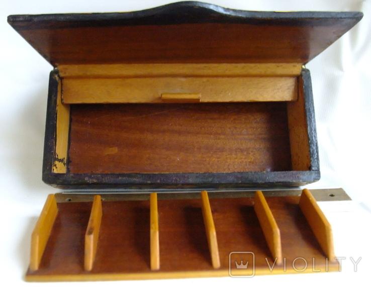 Шкатулка - коробка - хьюмидор для хранения сигар. Дерево авторская ручная работа., фото №11