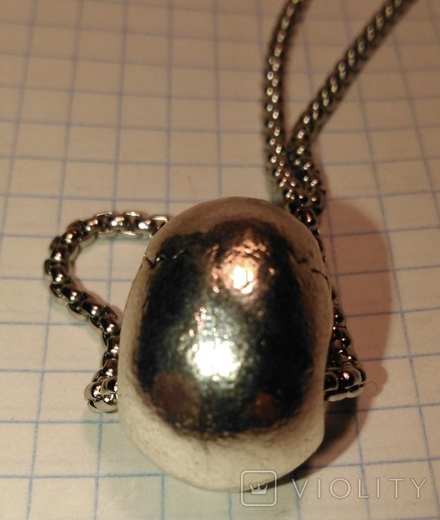Кулон Череп из металла с цепочкой, фото №6