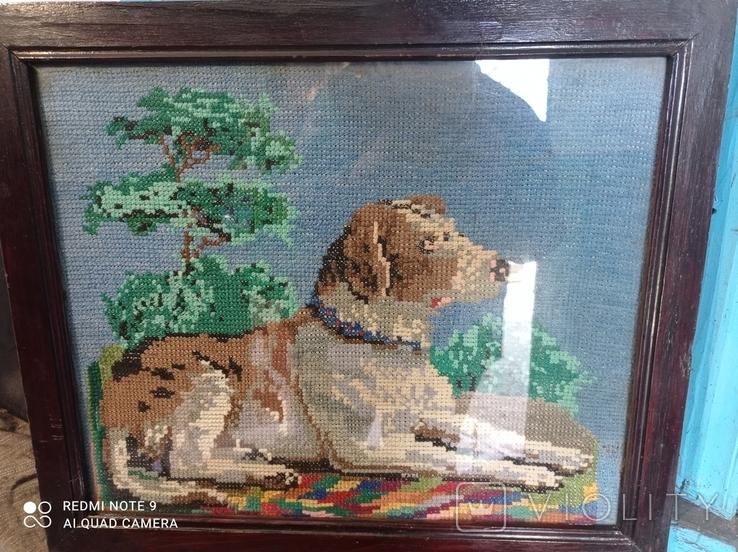 Вышивка собака, фото №2