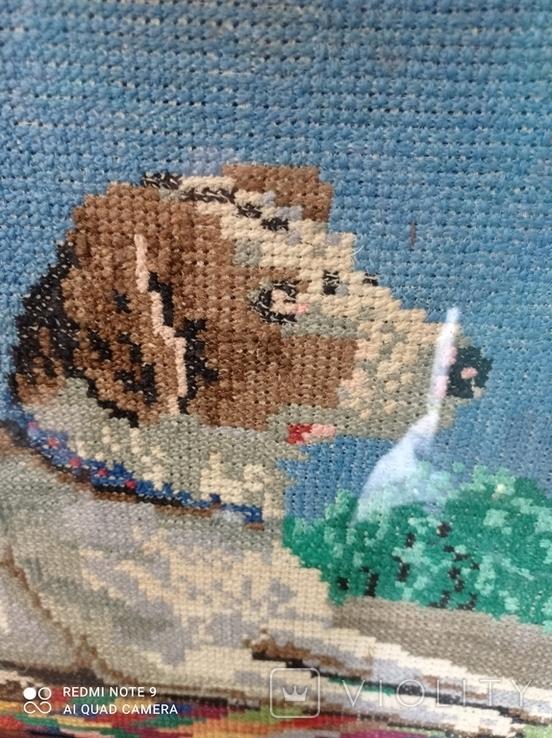 Вышивка собака, фото №4