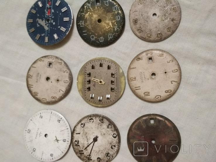 Циферблаты разные б/у на наручные часы 21 шт., фото №3