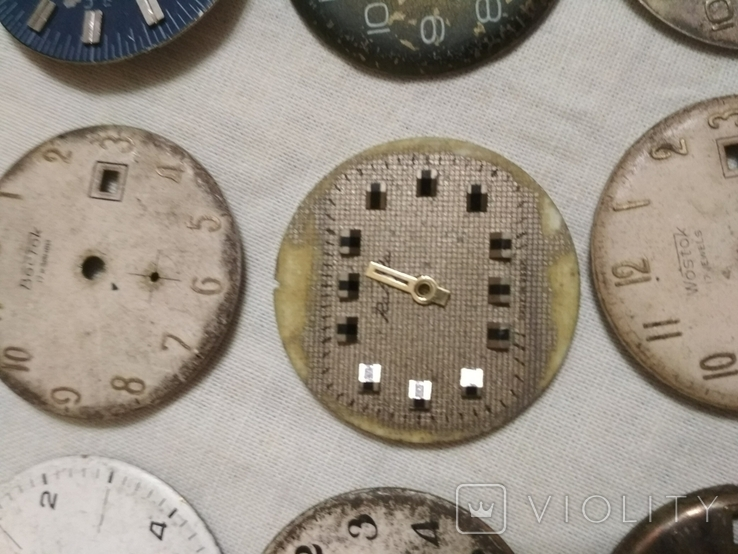 Циферблаты разные б/у на наручные часы 21 шт., фото №6