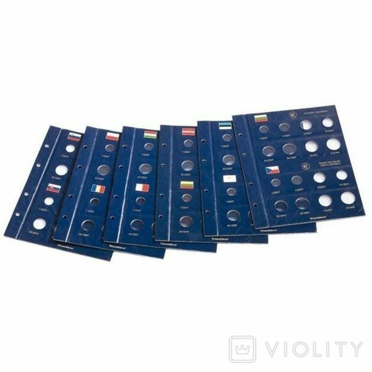 Альбом Vista для наборов eвромонет (12 стран) с футляром., фото №3