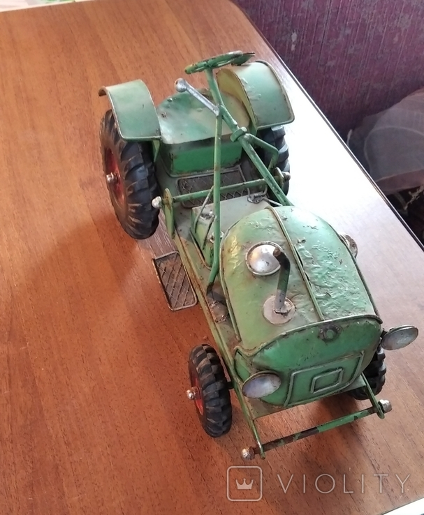 Колекційний старий трактор., фото №5