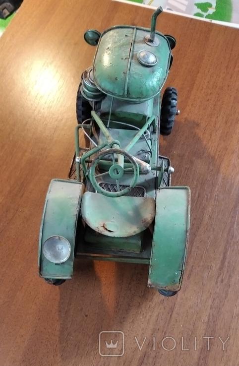 Колекційний старий трактор., фото №6