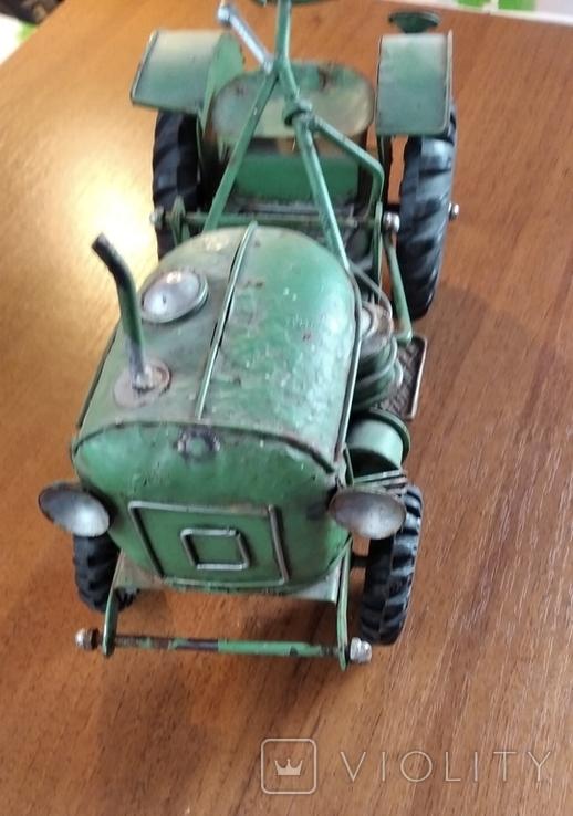 Колекційний старий трактор., фото №7