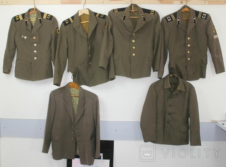 Форма армии СССР Китель Мундир Пиджак 6 штук, фото №2