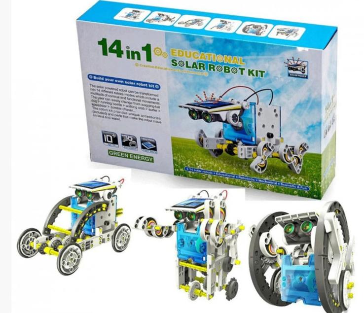 Конструктор - робот 14 в 1 на солнечных батареях., фото №3