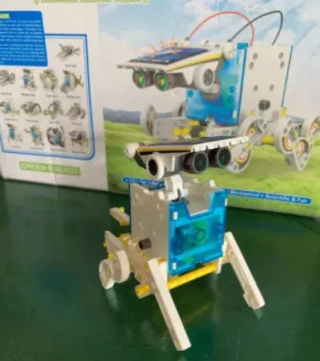 Конструктор - робот 14 в 1 на солнечных батареях., фото №5