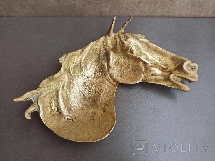 Пепельница Голова Лошади, старинная. Л968, фото №9