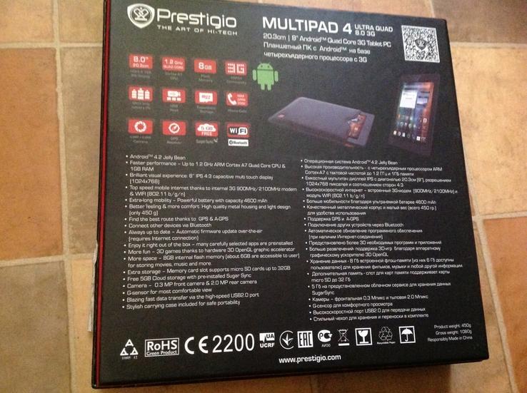 Prestigio MultiPad 4 Ultra Quad 8.0 3G, фото №9