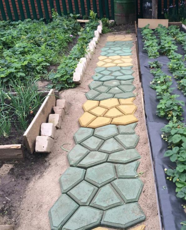 Форма для садовой дорожки Дикий камень 60 х 60 х 6 см, фото №4