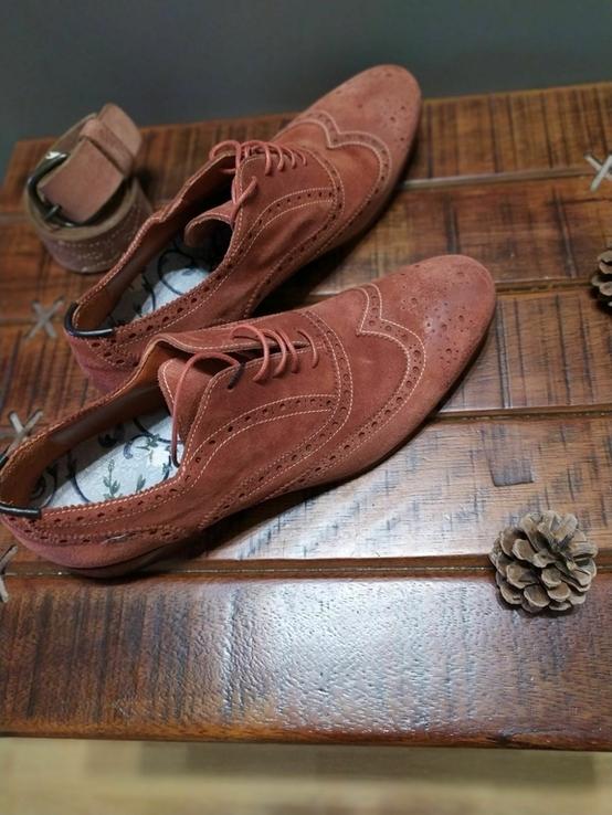 Итальянские стильные винтажные туфли 43 размер, фото №4