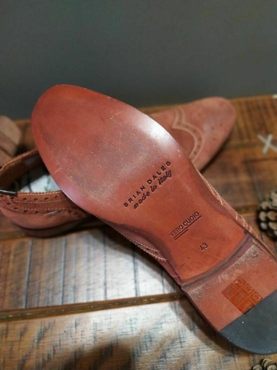 Итальянские стильные винтажные туфли 43 размер, фото №2