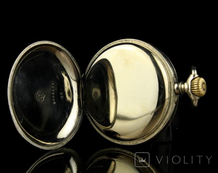 Швейцарские карманные часы Omega 1890-е. Обслужены., фото №10