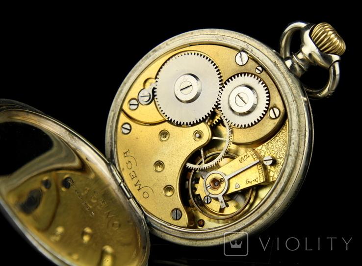 Швейцарские карманные часы Omega 1890-е. Обслужены., фото №12
