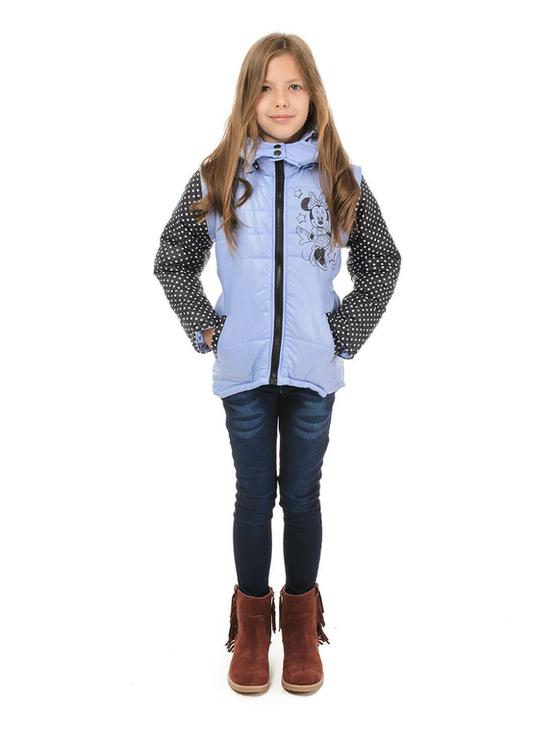 Куртка жилетка Міккі фіолет 110 ріст 1008b110, фото №4