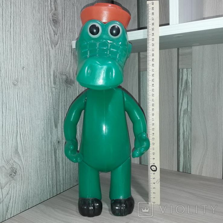 Крокодил Гена Игрушка СССР Клеймо Вятка, фото №2