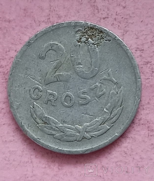 Польша 20 грошей 1961 год, фото №5