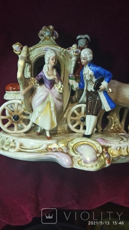 """Статуэтка """"Карета с герцогиней"""", 16,5 см, K. Sheidig, Grafenthal, Германия, фото №8"""