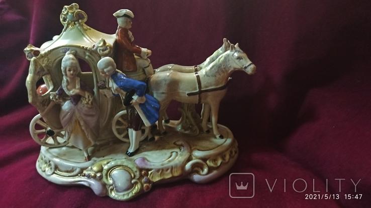 """Статуэтка """"Карета с герцогиней"""", 16,5 см, K. Sheidig, Grafenthal, Германия, фото №9"""