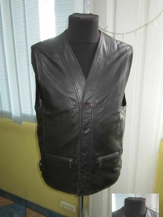Оригинальный мужской кожаный жилет ECHT LEDER. Германия. Лот 878, фото №2