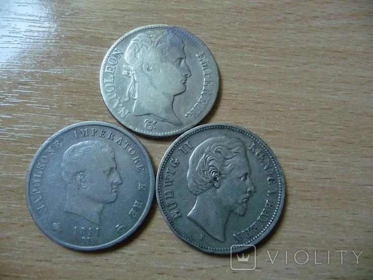 5 фр + 5 лир + 5 марок 1811 Наполеон І Серебро, фото №3