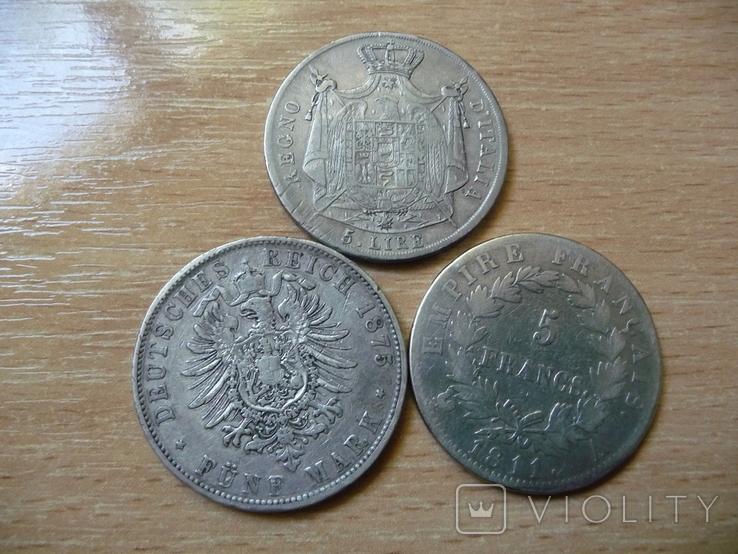 5 фр + 5 лир + 5 марок 1811 Наполеон І Серебро, фото №7