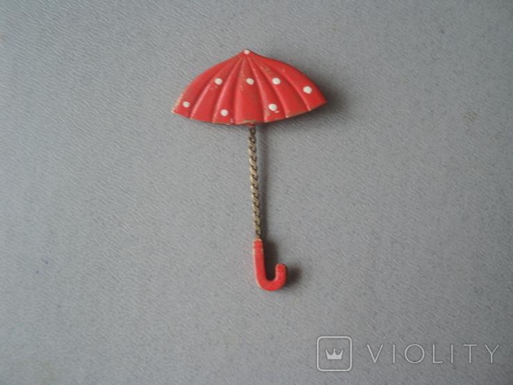 Брошь Зонтик СССР, фото №6