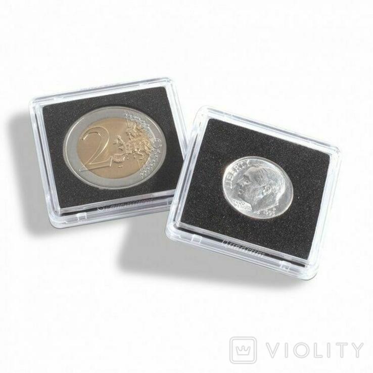Капсула квадратная quadrum mini для монет внутренний диаметр 10 мм. Leuchtturm 360946