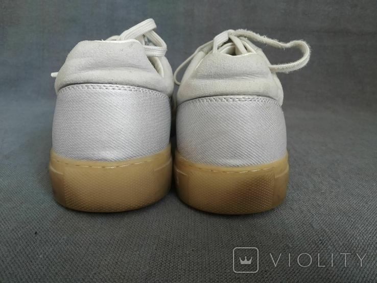 Кроссовки ZARA Испания Кеды 40 Замша белые, фото №4