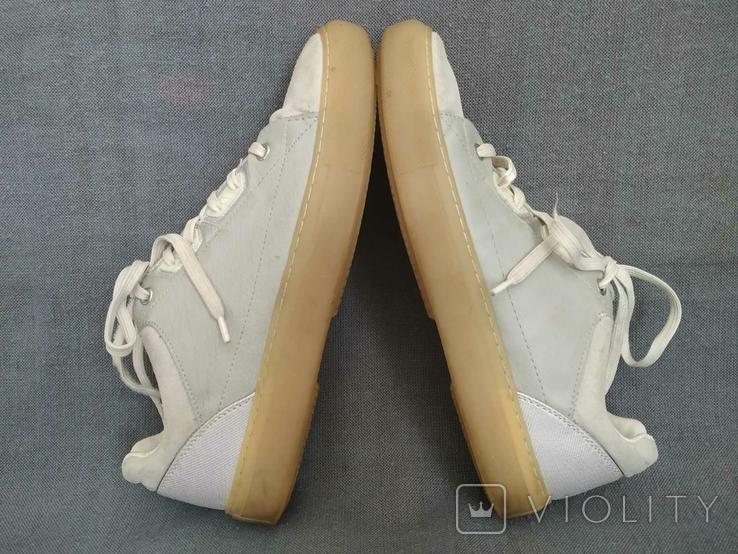 Кроссовки ZARA Испания Кеды 40 Замша белые, фото №6