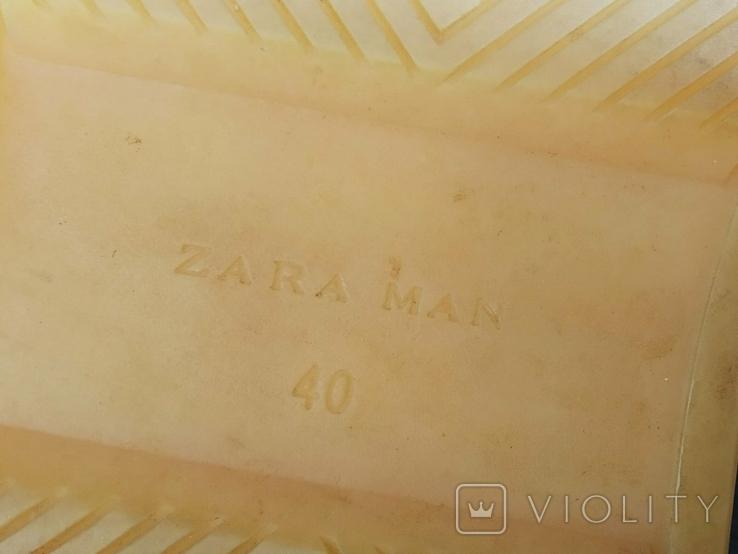 Кроссовки ZARA Испания Кеды 40 Замша белые, фото №9