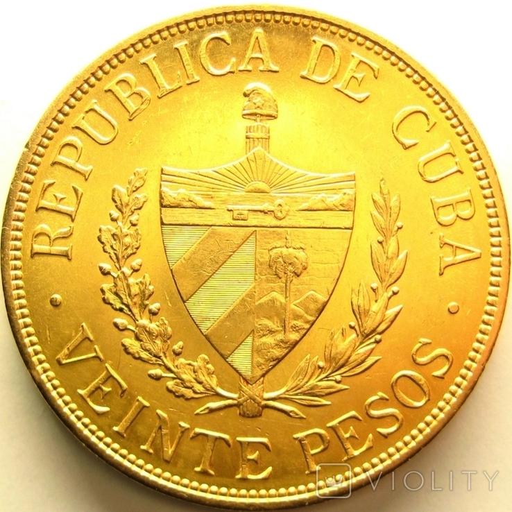 Куба 20 песо 1915 г., фото №3