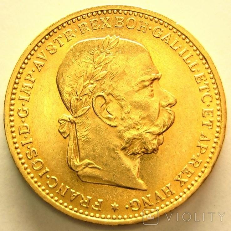 Австро-Венгрия 20 крон 1894 г., фото №2