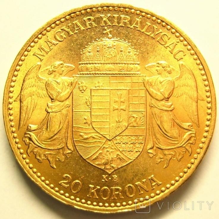 Австро-Венгрия 20 крон 1895 г., фото №4