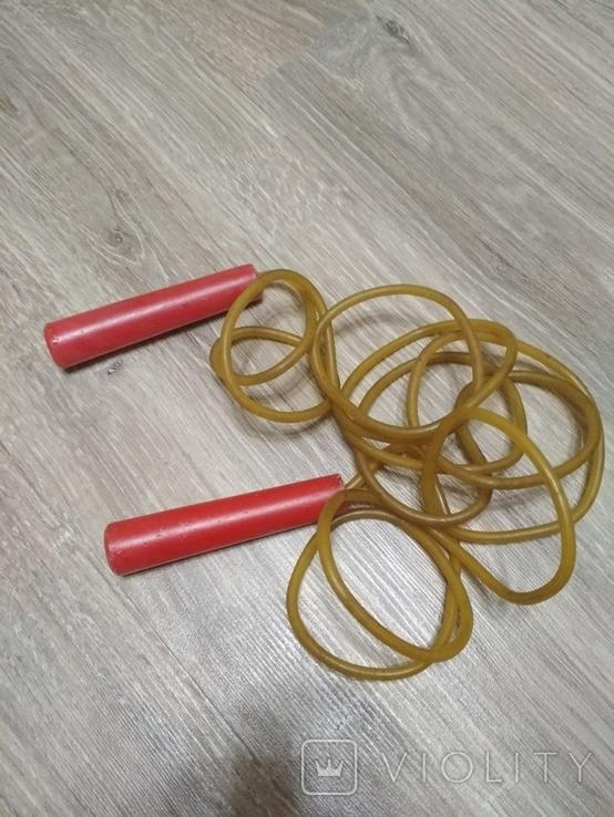 Скакалка, длина от кончика ручки до другого кончика  244 см., фото №2