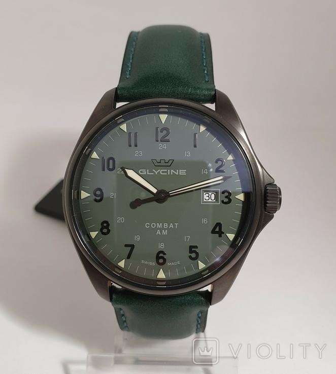 Новые Glycine Combat 6 Vintage Dark Green Automatic, фото №2
