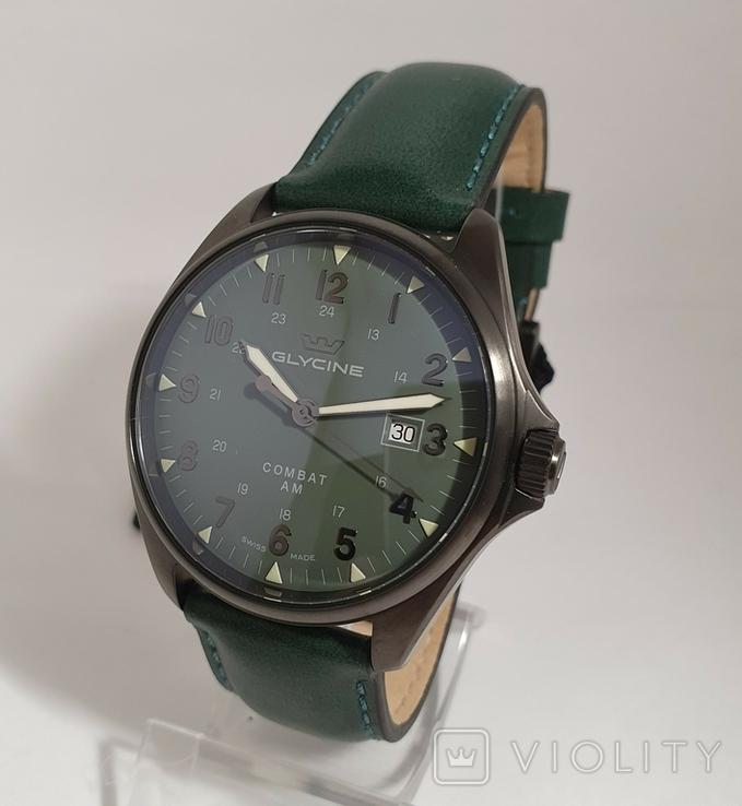 Новые Glycine Combat 6 Vintage Dark Green Automatic, фото №6
