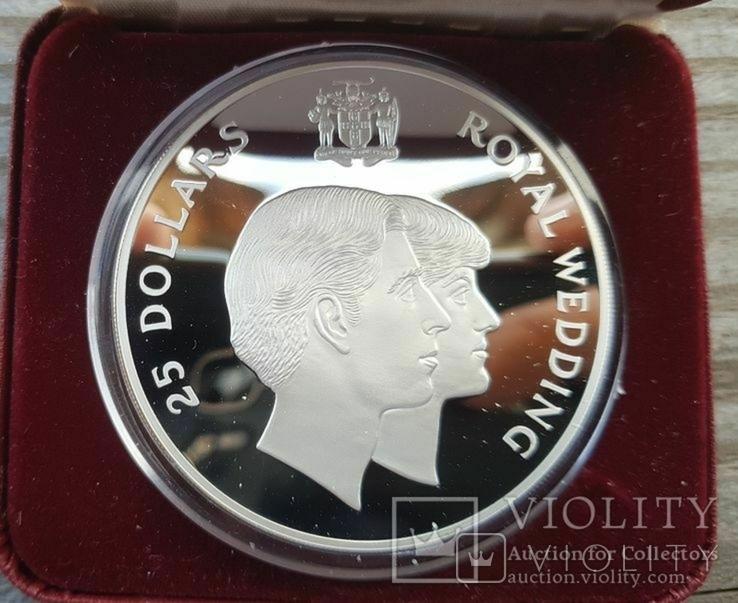 Ямайка 25 долларов 1981 г. Серебро. Вес: 136.00 г. Коробка., фото №3