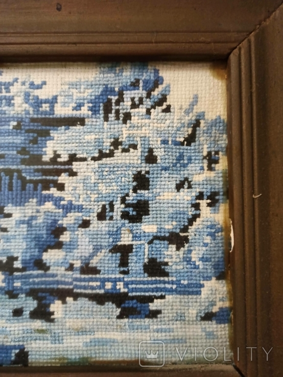 Картина - вышивка. Домик зимой., фото №3