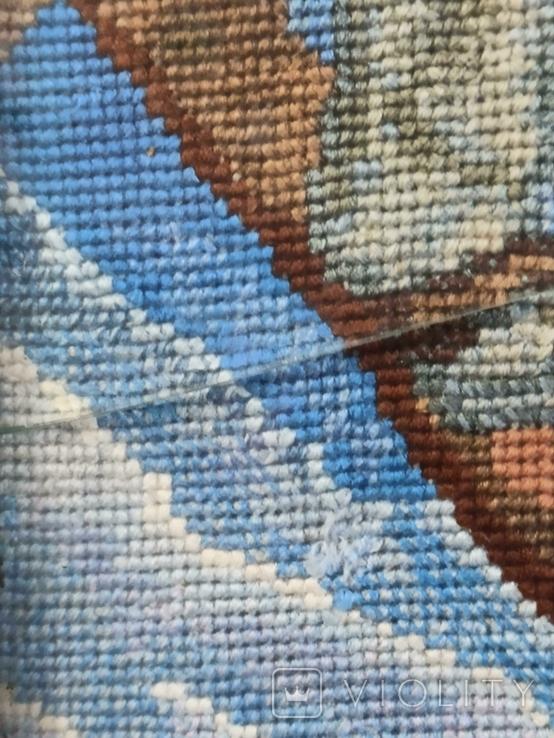 Картина-вышивка. Лыжник., фото №7