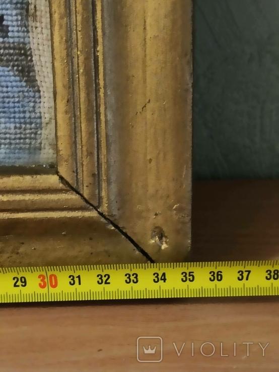 Картина-вышивка. Лыжник., фото №8