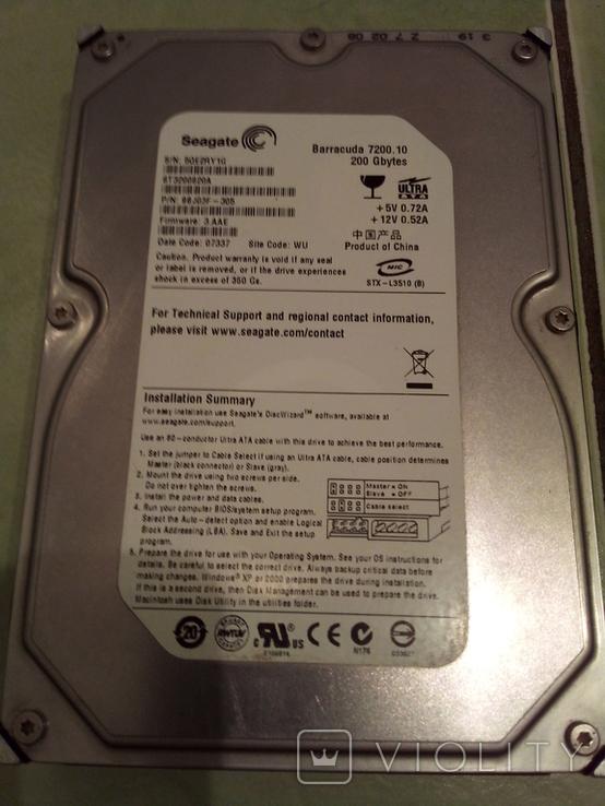 Винчестер,жесткий диск на 200 Гб., фото №4