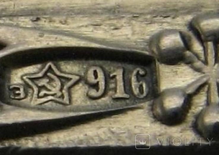 Ложка серебряная чайная СССР Таллин централь, фото №3