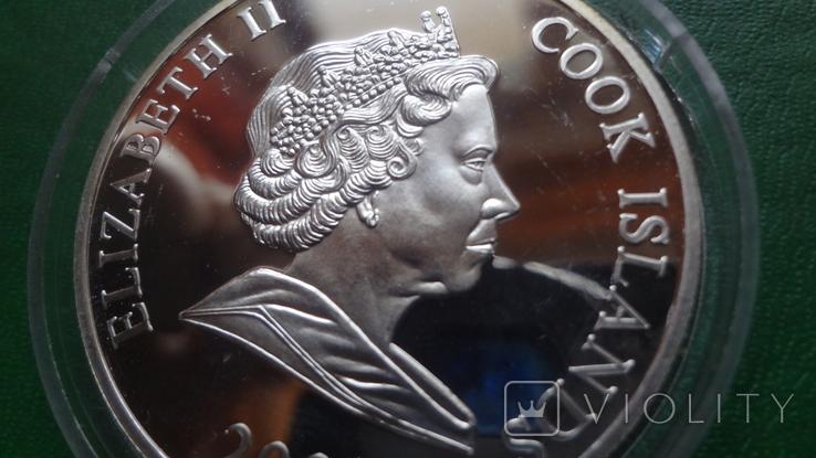1 доллар 2001 о-ва Кука Футбол Нидерланды серебро (2.3.3)~, фото №7