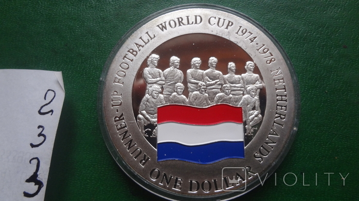 1 доллар 2001 о-ва Кука Футбол Нидерланды серебро (2.3.3)~, фото №9