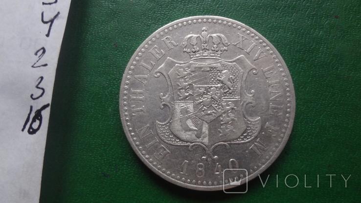 Талер 1840 Ганновер  серебро (2.3.16)~, фото №8