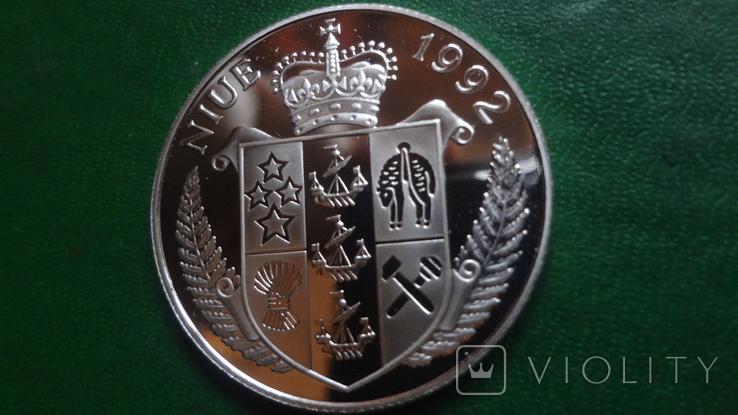 5  долларов 1992 Ниуэ  Парусник Баунти  серебро (2.1.3)~, фото №7